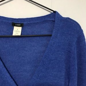 J Crew blue v neck cardigan XT12